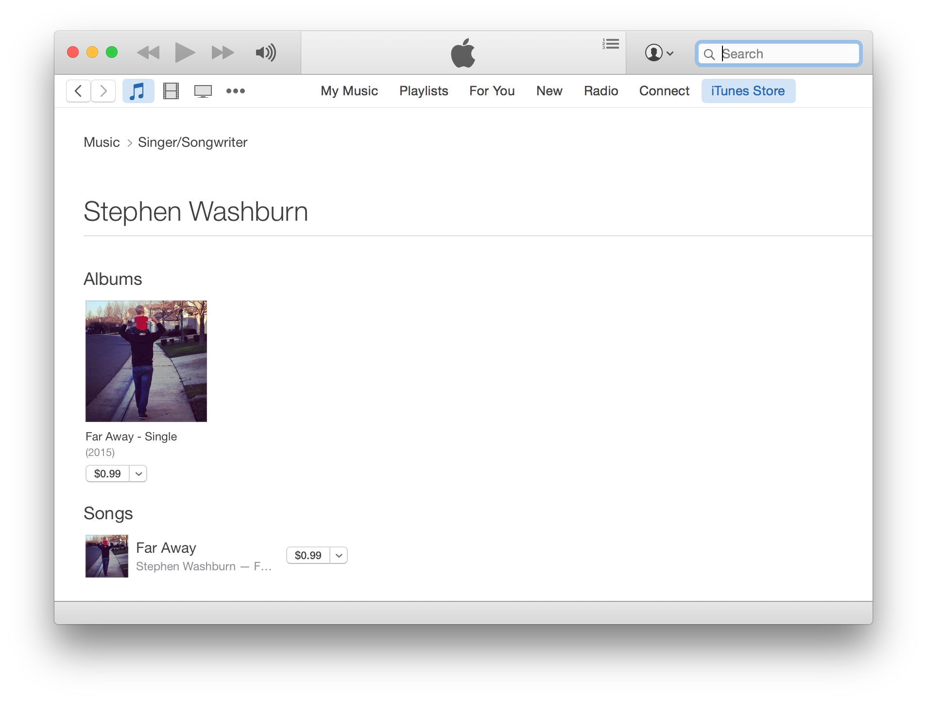 Far Away on iTunes
